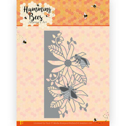 Jeanines Art Humming Bees stanssi Flower Border