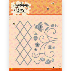Jeanines Art Humming Bees stanssi Strawberry Trellis