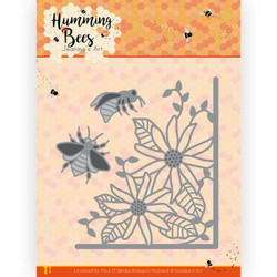 Jeanines Art Humming Bees stanssi Flower Corner