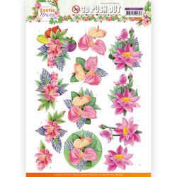 Jeanine's Art Exotic Flowers 3D-kuvat Pink Flowers