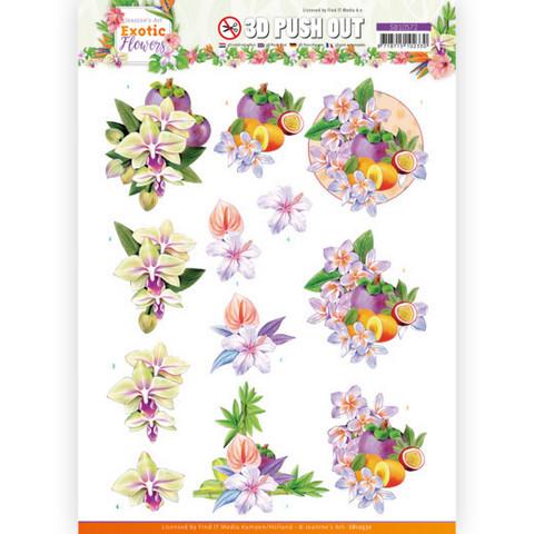 Jeanine's Art Exotic Flowers 3D-kuvat Purple Flowers