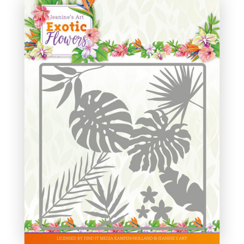 Jeanines Art Exotic Flowers stanssi Leaf and Flower Frame