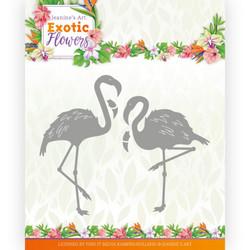 Jeanines Art Exotic Flowers stanssi Flamingo's