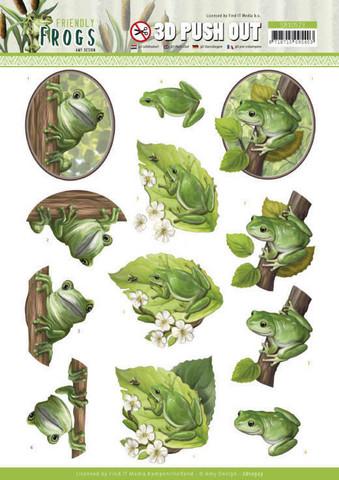 Amy Design Friendly Frogs 3D-kuvat Tree Frogs