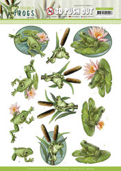 Amy Design Friendly Frogs 3D-kuvat Pond Frogs