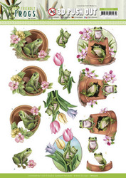 Amy Design Friendly Frogs 3D-kuvat Flower Frogs