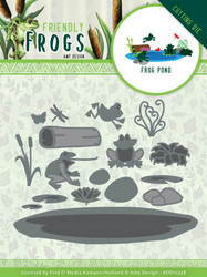 Amy Design Friendly Frogs stanssi Frog Pond