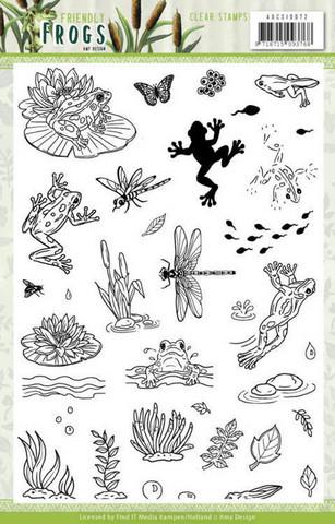 Amy Design leimasinsetti Friendly Frogs