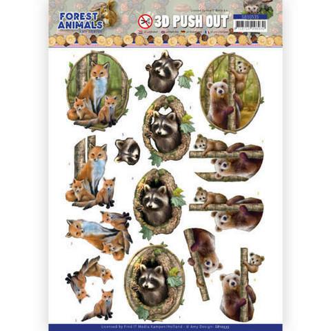 Amy Design Forest Animals 3D-kuvat Fox
