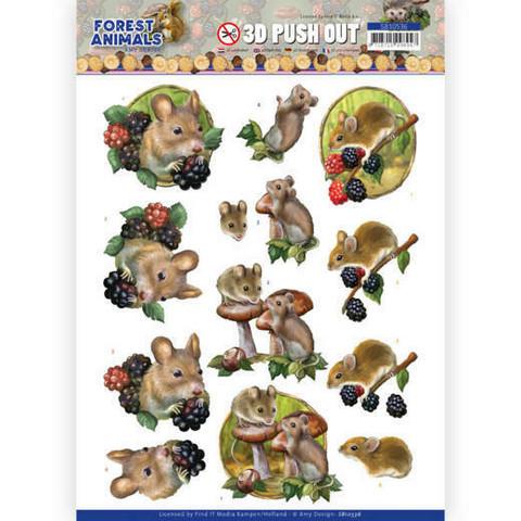 Amy Design Forest Animals 3D-kuvat Mouse