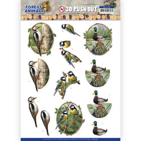 Amy Design Forest Animals 3D-kuvat Woodpecker