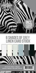 Card Deco Essentials kartonkipakkaus, 6 Shades of Grey, 100 kpl