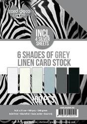 Card Deco Essentials kartonkipakkaus, 6 Shades of Grey, 100 kpl, A5
