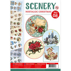 Push Out -kirja Scenery Nostalgic Christmas