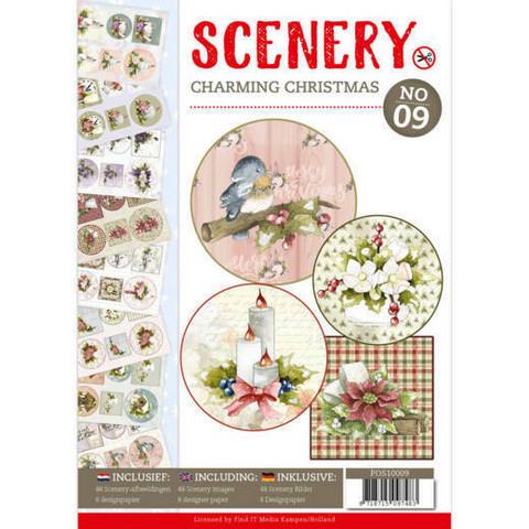 Push Out -kirja Scenery Charming Christmas