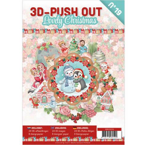 3D-Push Out -kirja Lovely Christmas