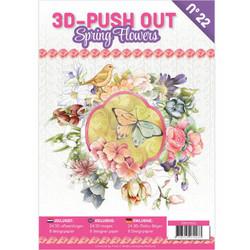 3D-Push Out -kirja Spring Flowers