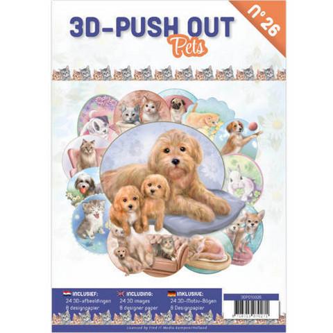 3D-Push Out -kirja Pets