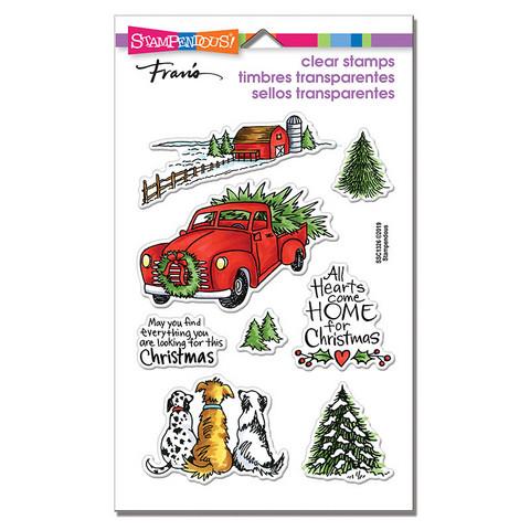 Stampendous leimasinsetti Christmas Farm