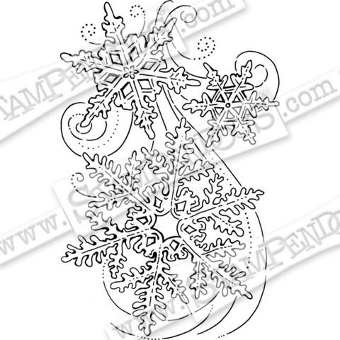 Stampendous leimasin Snow Swirls