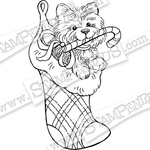 Stampendous leimasin Puppy Stocking