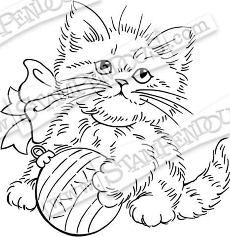 Stampendous leimasin Kitten Ornament