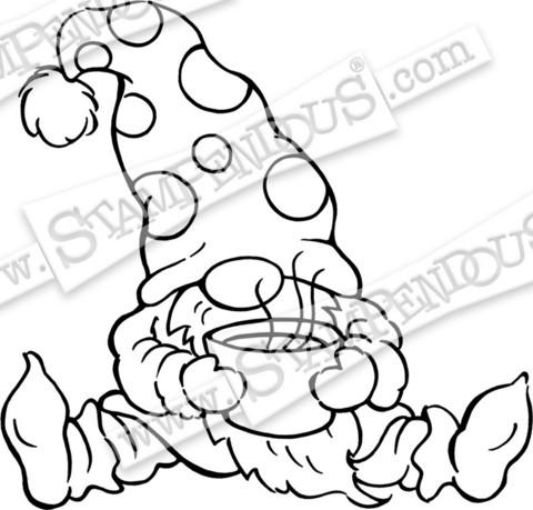 Stampendous leimasin Cocoa Gnome