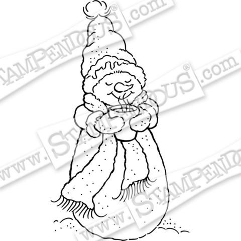 Stampendous leimasin Warm Snowman