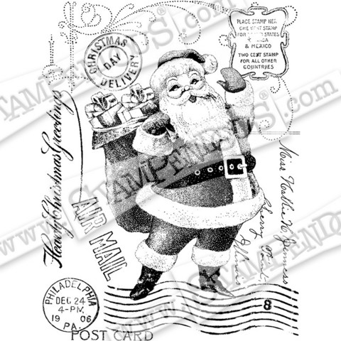 Stampendous leimasin Santa Post
