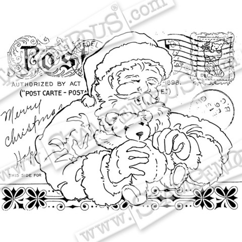 Stampendous leimasin Santas Teddy