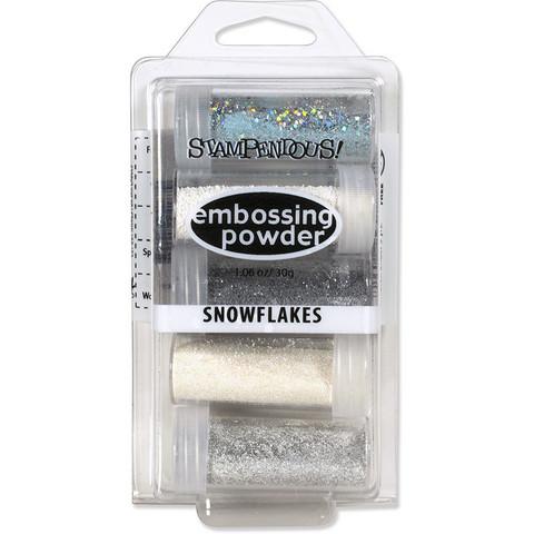 Stampendous kohojauheet Snowflakes, 5 kpl