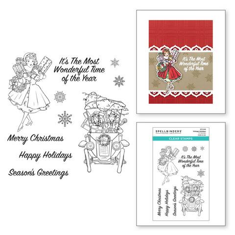 Spellbinders leimasinsetti Vintage Holidays