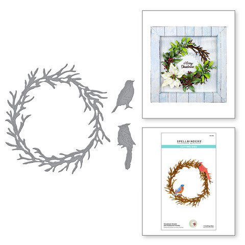 Spellbinders stanssisetti Woodland Wreath and Feathered Friends