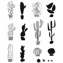 Stampers Anonymous, Tim Holtz leimasinsetti Mod Cactus