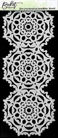 Picket Fence sapluuna Slimline Hand Cut Snowflake