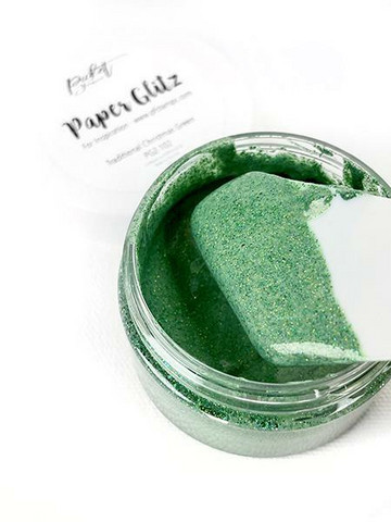 Picket Fence Paper Glitz, sävy Traditional Christmas Green