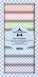 Paper Favourites Pastel Gingham -paperipakkaus, Slim Line
