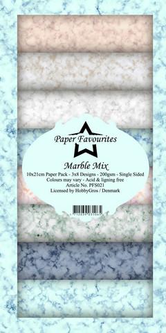 Paper Favourites Marble Mix -paperipakkaus, Slim Line