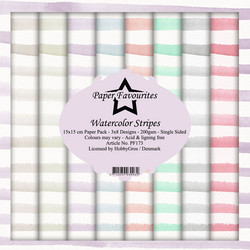 Paper Favourites Watercolor Stripes -paperipakkaus