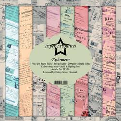 Paper Favourites Ephemera -paperipakkaus