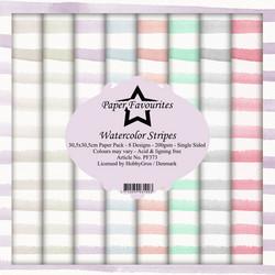 Paper Favourites Watercolor Stripes -paperipakkaus, 12