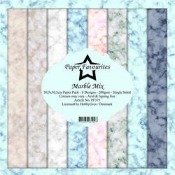 Paper Favourites Marble Mix -paperipakkaus, 12