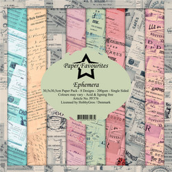 Paper Favourites Ephemera -paperipakkaus, 12