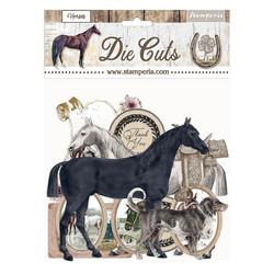 Stamperia leikekuvat Romantic Horses