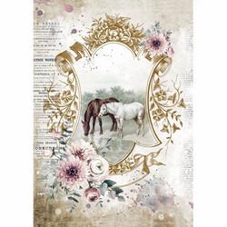 Stamperia riisipaperi Romantic Horses, Lake