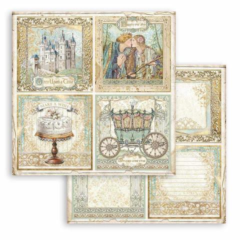Stamperia Sleeping Beauty skräppipaperi 4 Cards
