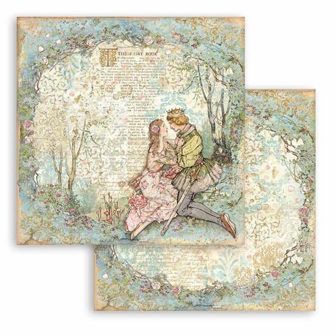 Stamperia Sleeping Beauty skräppipaperi Lovers