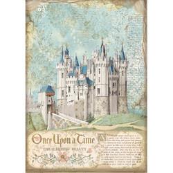Stamperia riisipaperi Sleeping Beauty, Castle