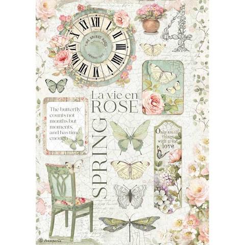 Stamperia riisipaperi La Vie en Rose