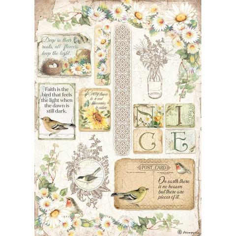 Stamperia riisipaperi Daisy